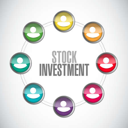stock market return: Stock Investment connections sign concept illustration design graphic