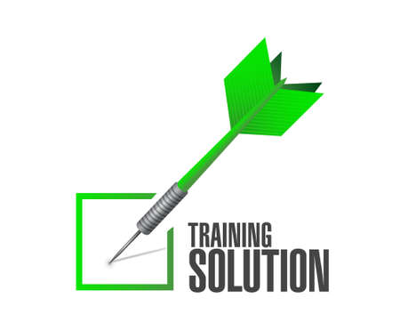 check mark sign: Training Solution check mark sign concept illustration design graphic icon