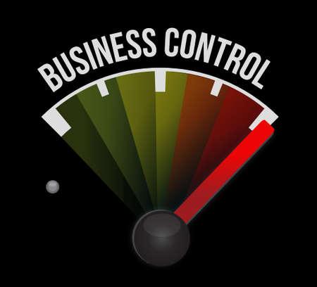dominance: business control meter sign concept illustration design