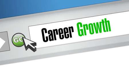 careers: Career Growth website sign concept illustration design graphic Illustration