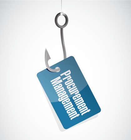 procurement: Procurement Management hook sign concept illustration design graphic icon Illustration