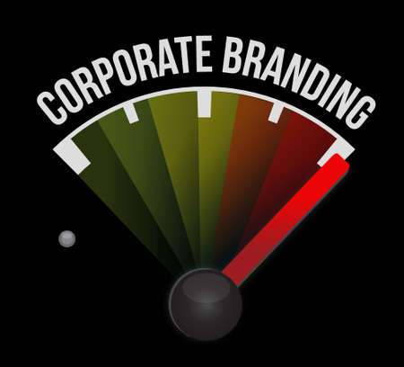 commercial sign: Corporate Branding meter sign concept illustration design graphic