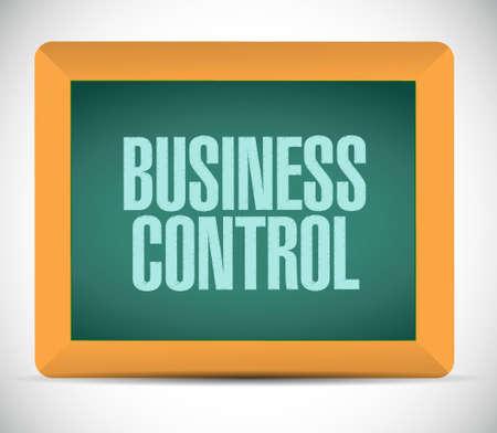 business control board sign concept illustration design