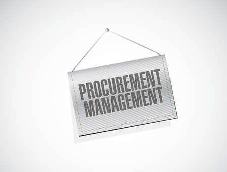 provision: Procurement Management banner sign concept illustration design graphic icon