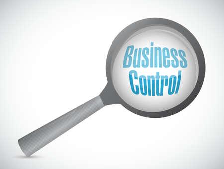 business control review sign concept illustration design