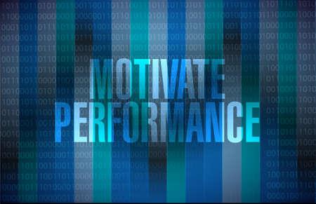 Motiveren Prestatie binaire achtergrond teken concept illustratie ontwerp Stock Illustratie