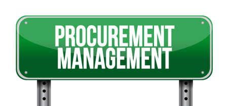 procurement: Procurement Management road sign concept illustration design graphic icon