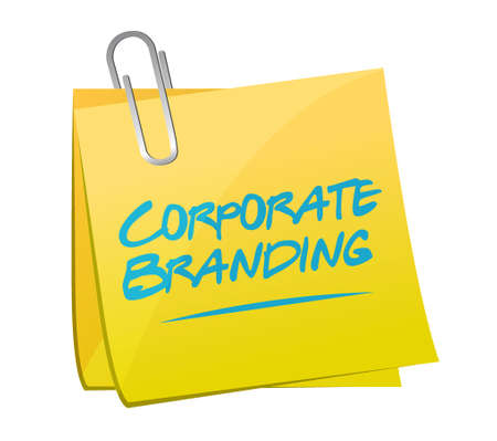 Corporate Branding memo post sign concept illustration design graphic