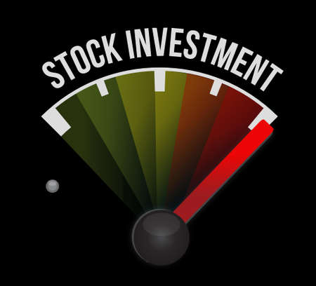 stock market return: Stock Investment meter sign concept illustration design graphic