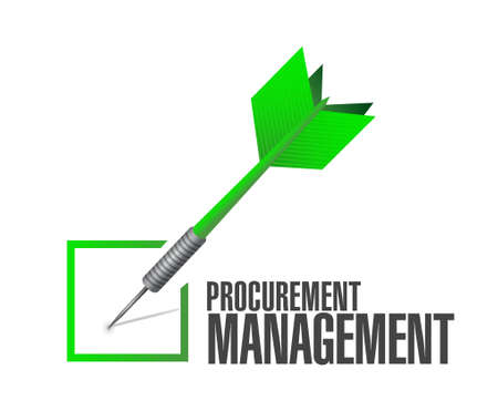 provision: Procurement Management check dart sign concept illustration design graphic icon Illustration
