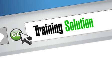cognition: Training Solution website sign concept illustration design graphic icon
