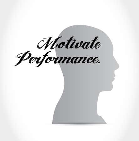 Motiveren Prestatie denken hersenen teken concept illustratie ontwerp