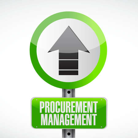 price gain: Procurement Management road sign concept illustration design graphic icon