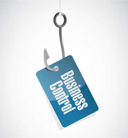 superintendence: business control hook sign concept illustration design