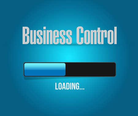 business control loading bar sign concept illustration design Çizim