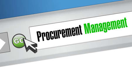 provision: Procurement Management online sign concept illustration design graphic icon