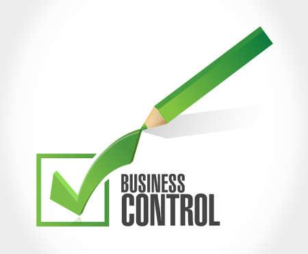 superintendence: business control check mark sign concept illustration design