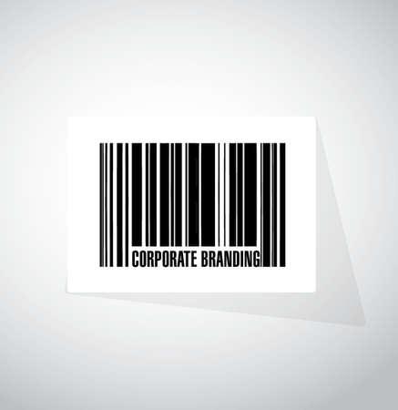 Corporate Branding barcode teken concept, illustratie, grafisch Stock Illustratie
