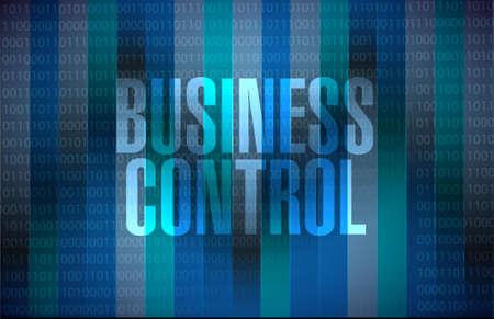 superintendence: business control binary sign concept illustration design