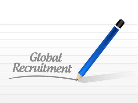 contracting: Global Recruitment message sign concept illustration design graphic