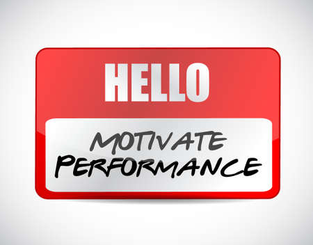 パフォーマンス: Motivate Performance name tag sign concept illustration design  イラスト・ベクター素材