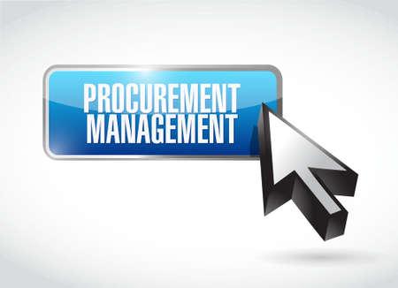 price gain: Procurement Management button sign concept illustration design graphic icon Illustration