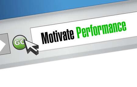 Motiveren prestaties concept illustratie web teken ontwerp