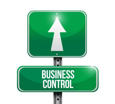 business control road sign concept illustration design