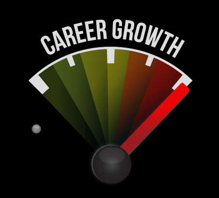 Career Growth meter sign concept illustration design graphic Ilustrace
