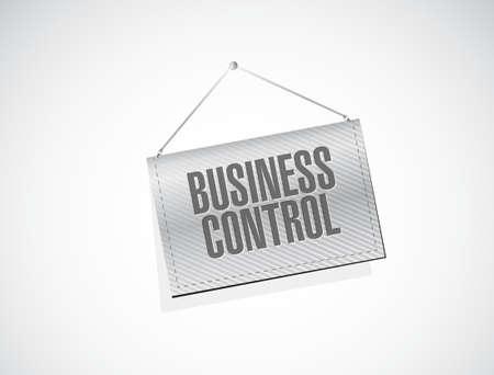 business control banner sign concept illustration design