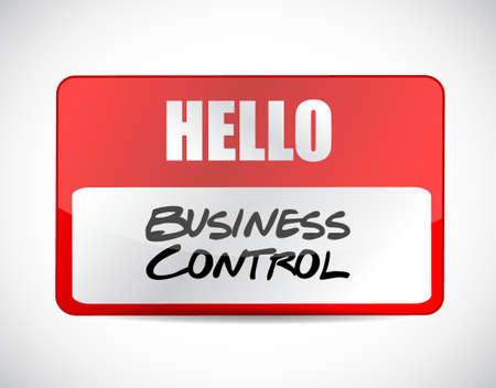business control name tag sign concept illustration design