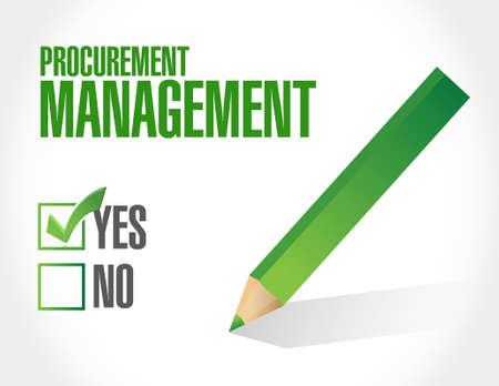 procurement: Procurement Management approval sign concept illustration design graphic icon Illustration