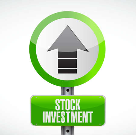 stock market return: Stock Investment road sign concept illustration design graphic