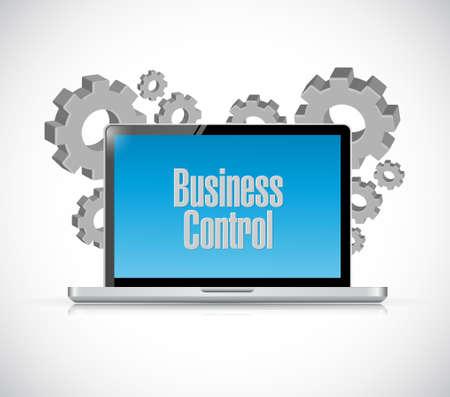 superintendence: business control tech computer sign concept illustration design