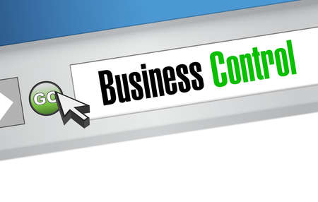 business control online sign concept illustration design