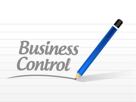 business control message sign concept illustration design Çizim