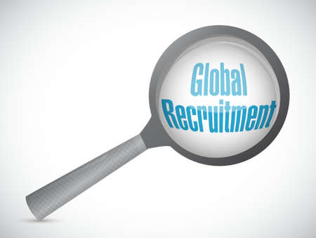 Global Recruitment review sign concept illustration design graphic