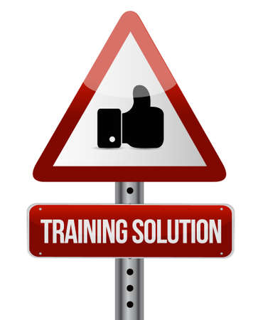 cognition: Training Solution like sign concept illustration design graphic icon