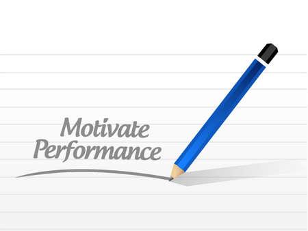 Motiveren Prestatie bericht bord concept illustratie ontwerp