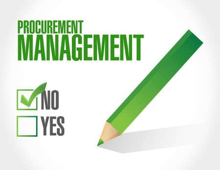 procurement: no Procurement Management sign concept illustration design graphic icon