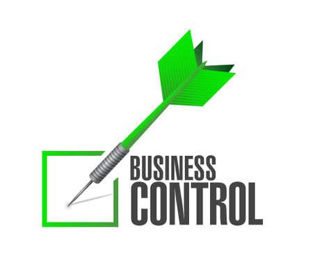 dominance: business control check dart sign concept illustration design