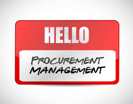 price gain: Procurement Management name tag sign concept illustration design graphic icon