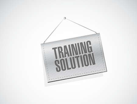 workshop seminar: Training Solution banner sign concept illustration design graphic icon Illustration