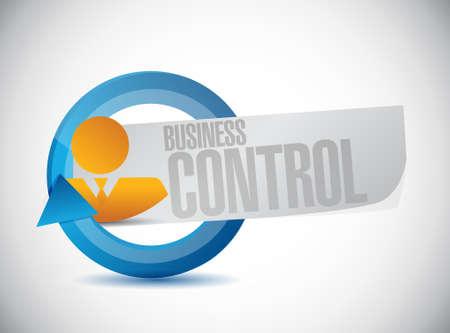 business control avatar sign concept illustration design