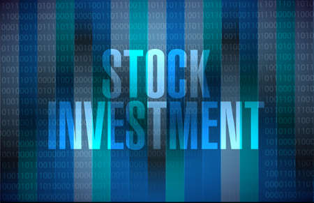 stock market return: Stock Investment binary sign concept illustration design graphic Illustration