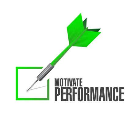 Motiveren Prestatie check dart bord concept illustratie ontwerp