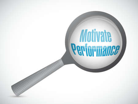 review: Motivate Performance review sign concept illustration design Illustration