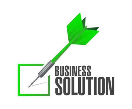 check sign: Business Solution check dart sign concept illustration design graphic Illustration