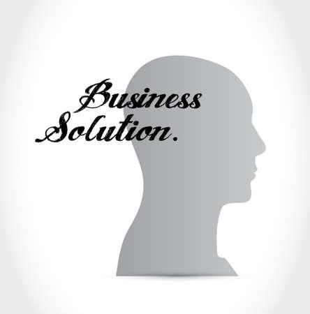 Business Solution brain sign concept illustration design graphic Illustration