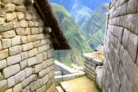 cuzco: machu picchu near Cuzco, Peru the world heritage site.